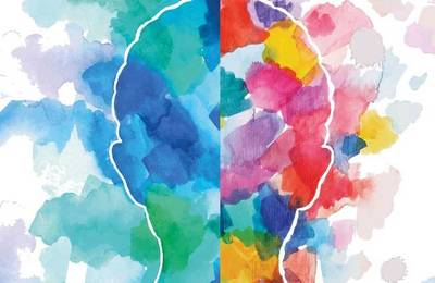 Watercolour Outline Head Mental Health Header